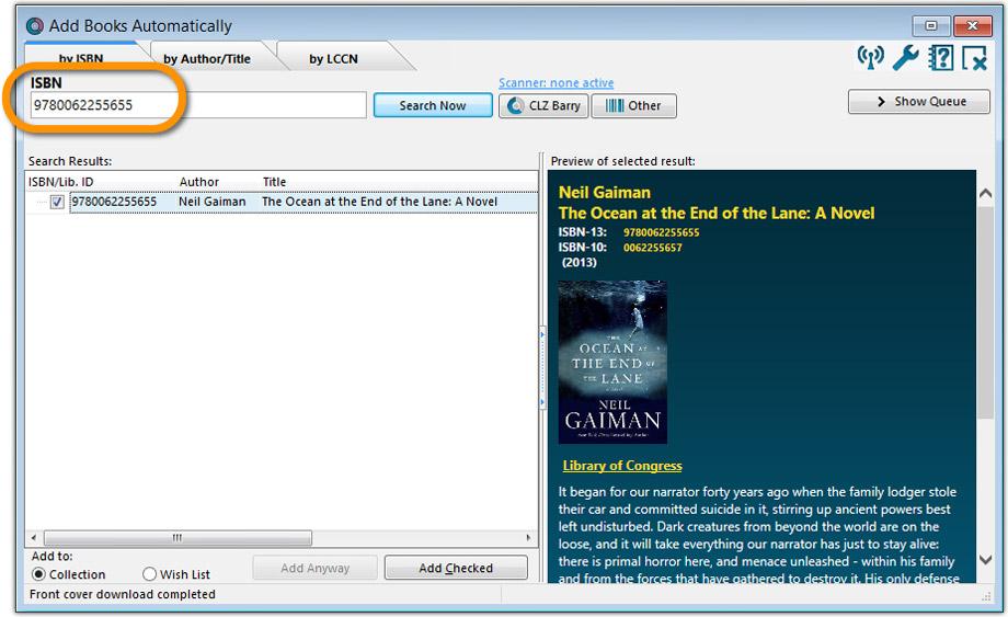 Book Collector desktop software - Catalog your home library