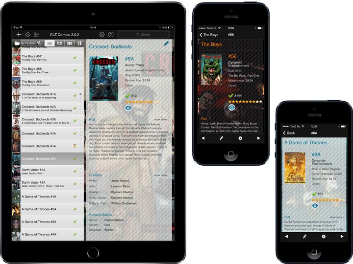 Comic database app for for iPhone, iPad and Android » CLZ Comics