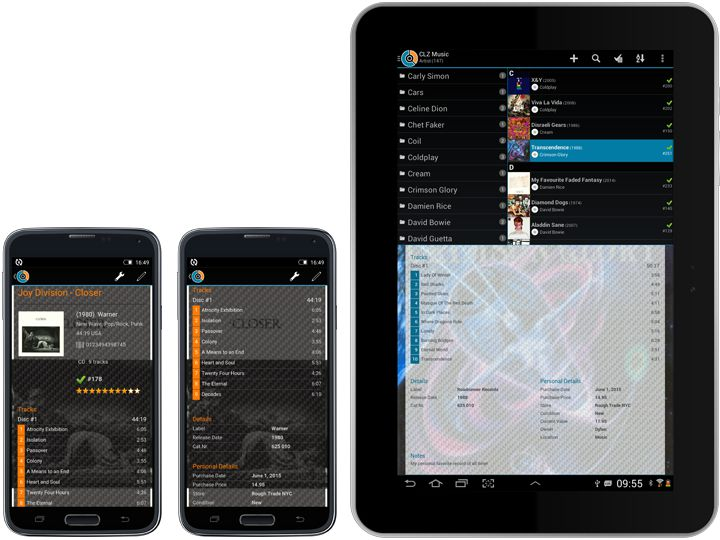 Music database app for iPhone, iPad and Android » CLZ Music