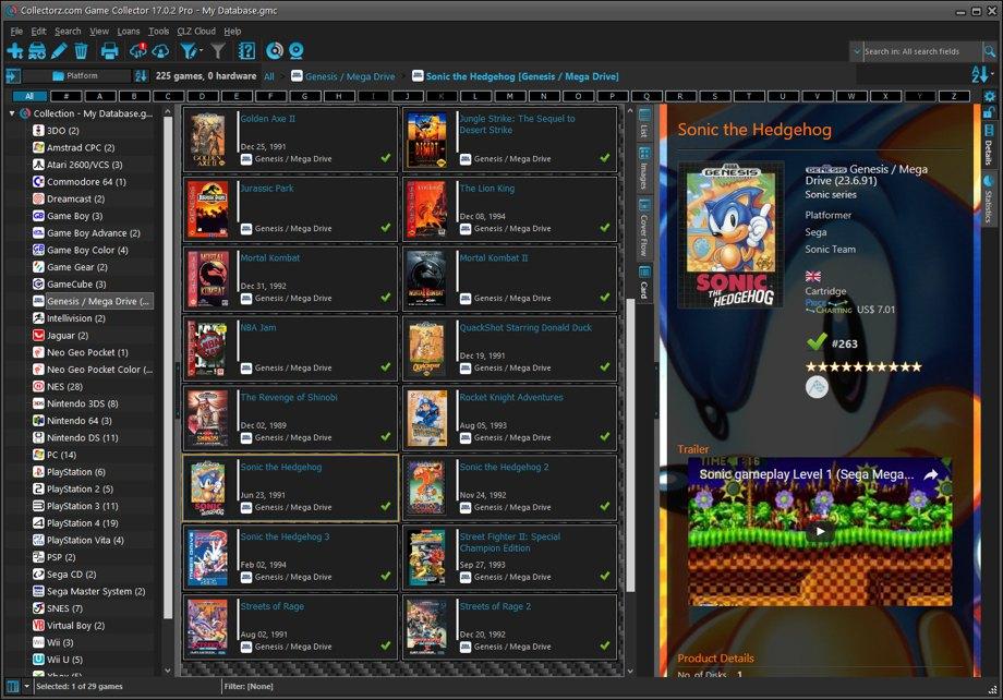 Game Collector desktop software - Catalog video games on
