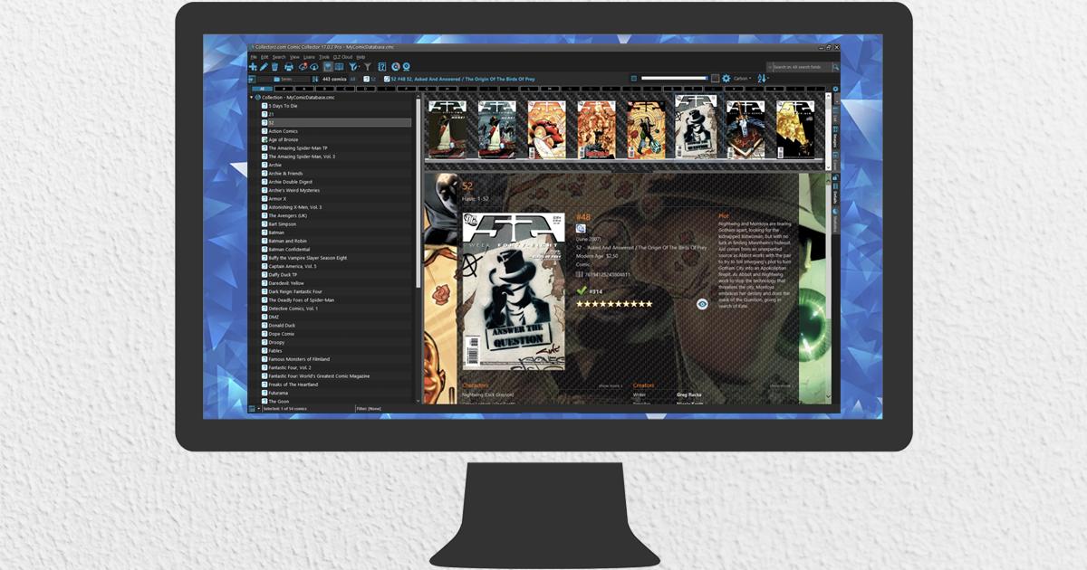 Comic Collector desktop software - Catalog your comics on
