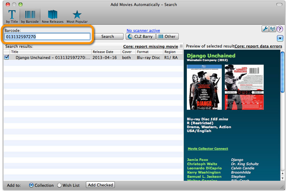 Movie Collector desktop software - Catalog DVDs and Blu-rays