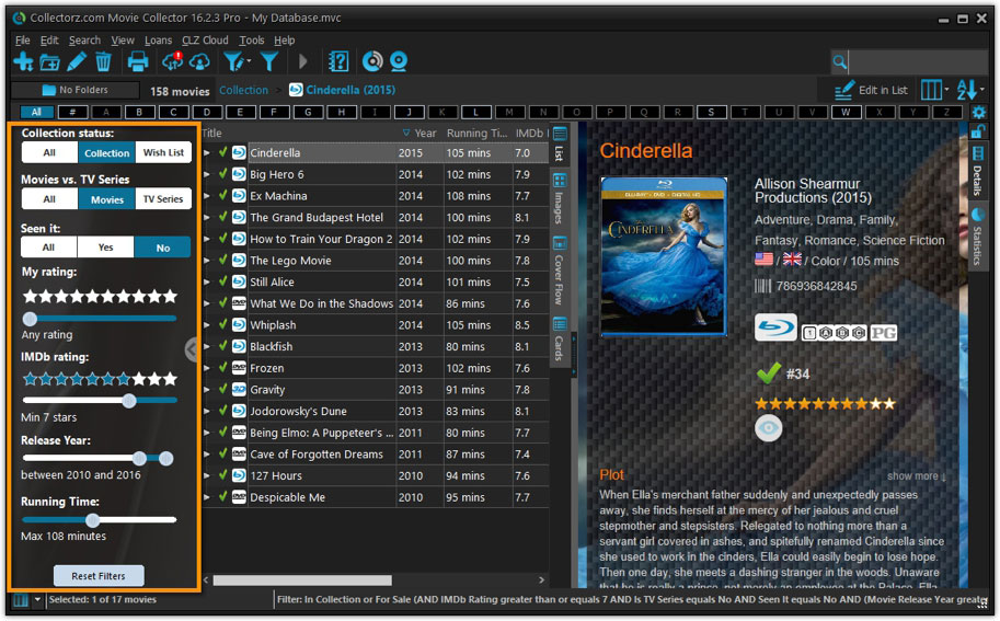 Movie Collector desktop software - Catalog DVDs and Blu-rays on your PC or Mac - Collectorz.com