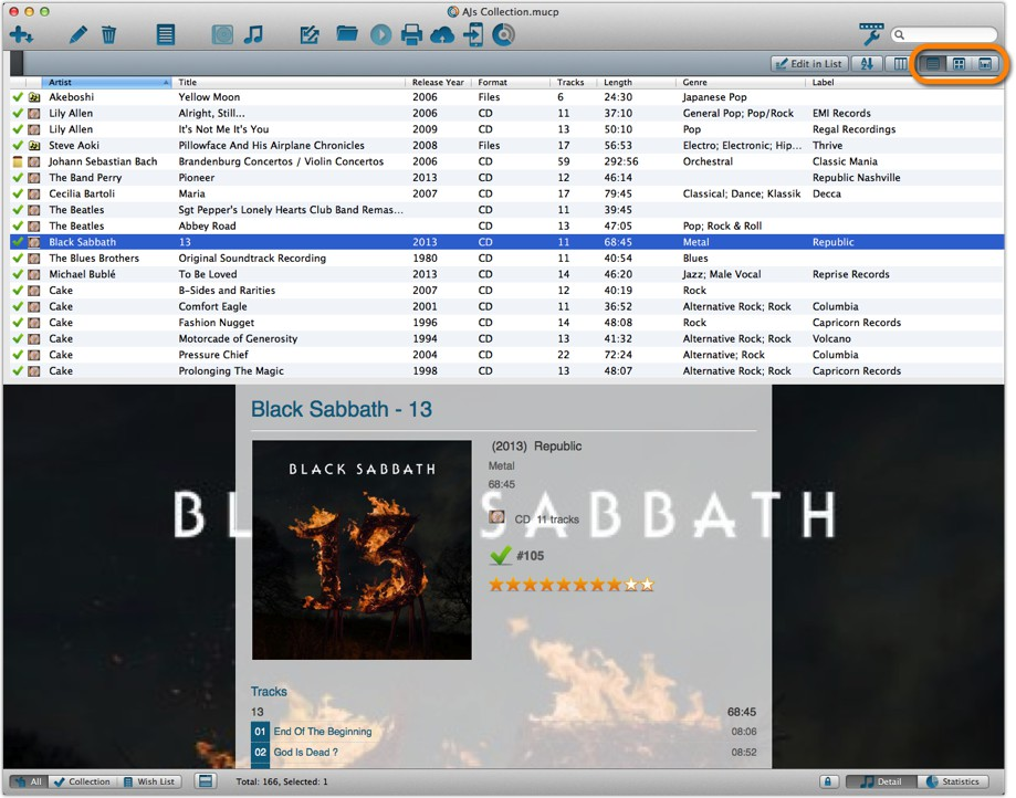 Music Collector desktop software - Catalog CDs and vinyl on