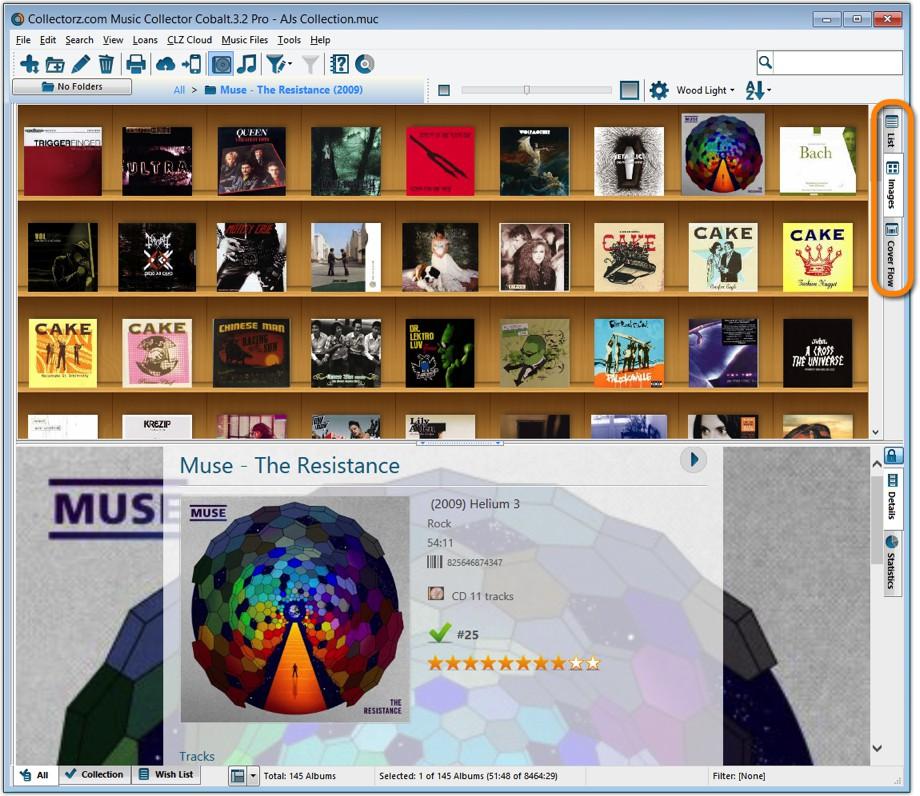 Music Collector desktop software - Catalog CDs and vinyl on