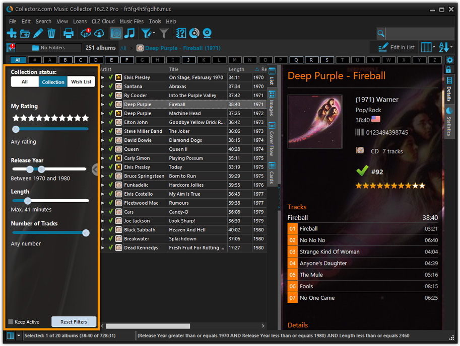CD database software, catalog your music with Music ...
